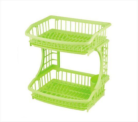 PEARL日本2段碗碟收纳架(绿色)