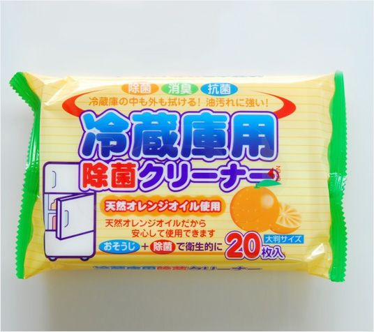 komoda日本冰箱除菌消臭湿巾 20枚入冰箱清洁巾