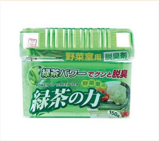 【控价】KOKUBO日本绿茶之力 蔬菜柜用脱臭剂150g橱柜除臭剂