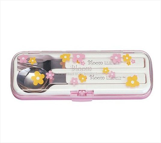 小森树脂日本便利勺套装(花色)不锈钢叉勺套装