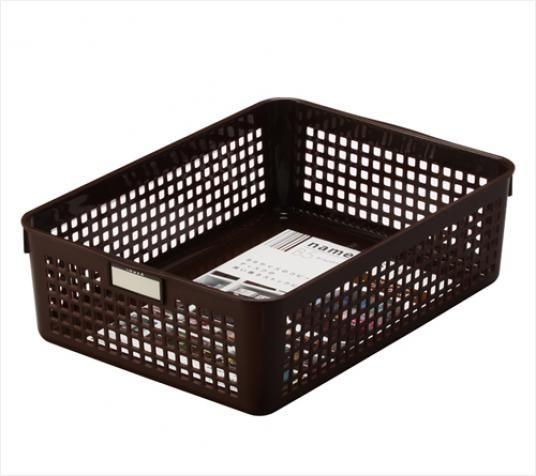 INOMATA日本时尚桌面杂物塑料储物篮