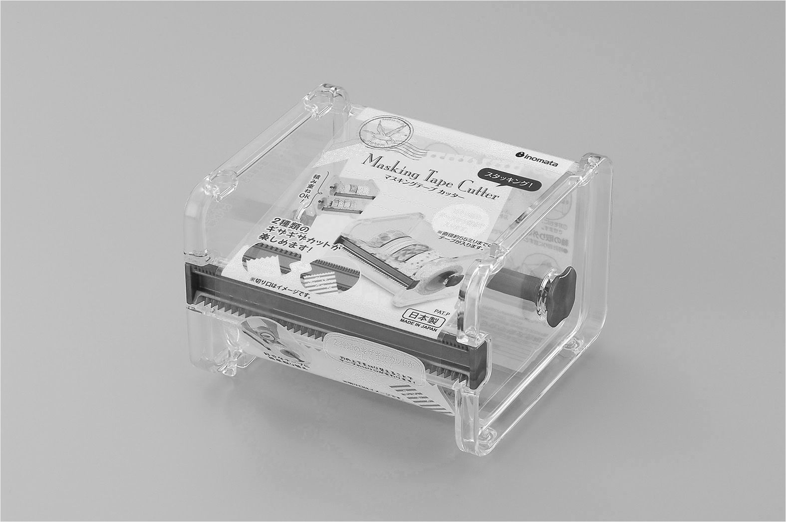 INOMATA日本胶带切割器(透明)胶带切割器
