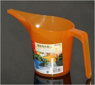 INOMATA日本水壶(900ml)(橙色)塑料浇水杯