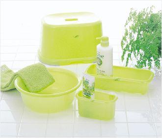 INOMATA日本洗浴用品4件套装(绿色)