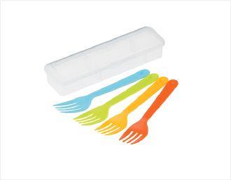 INOMATA日本便攜水果叉套裝#塑料叉
