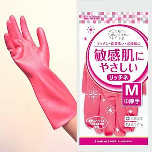 DUNLOP日本橡胶手套 洗碗手套 家务手套 M 中厚