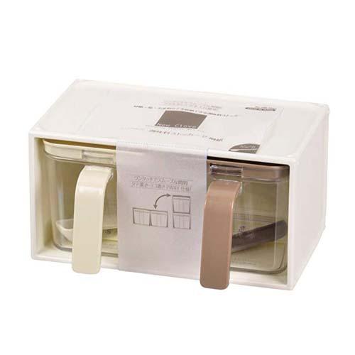 ✪PEARL日本调味罐2个组#塑料调味盒