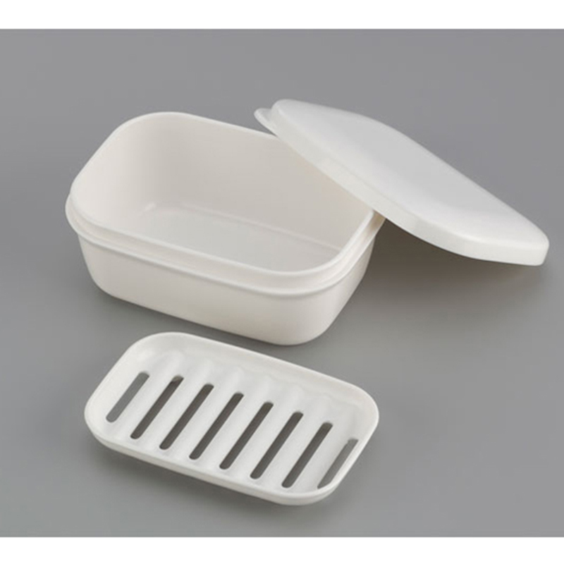 INOMATA日本可携带密封肥皂盒塑料肥皂盒