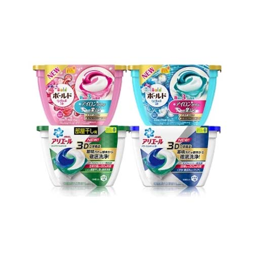P&G宝洁日本3D洗衣球 洗衣凝珠盒装18枚❤