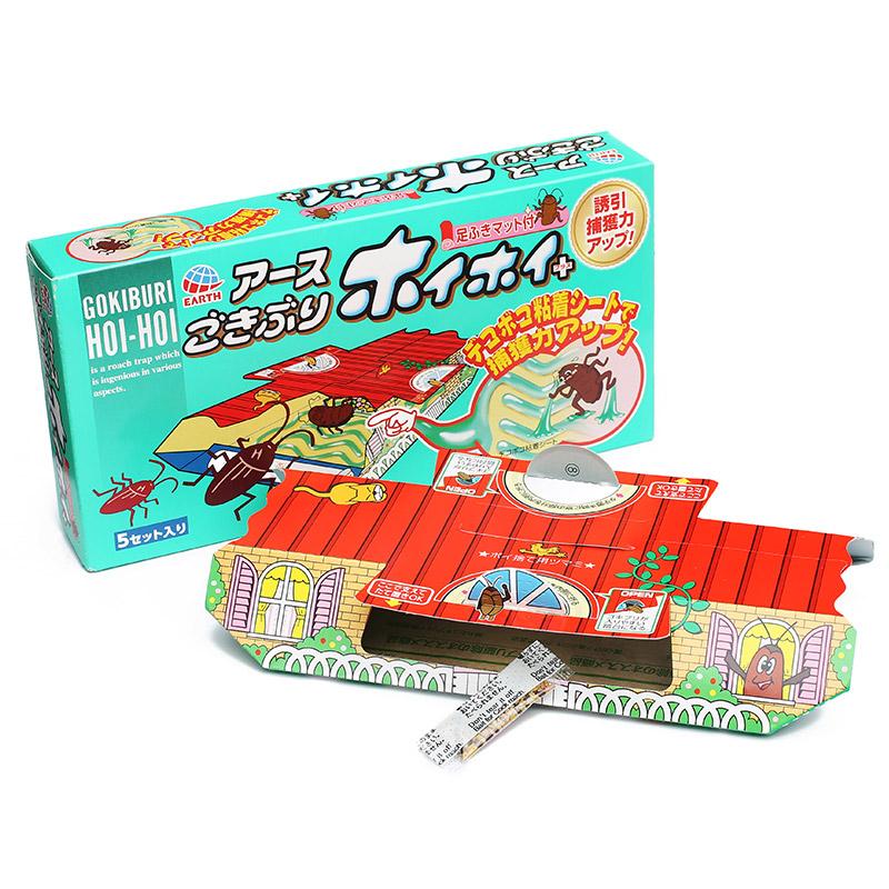 纯日本包装蟑螂屋5枚装(发货时注意拆开一盒)(该商品仅做现货不接预定单,请知悉!!!)