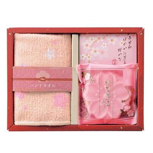 MARUTATSU日本香皂,毛巾礼物盒(樱花)
