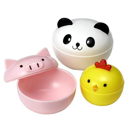 TORUNE日本便当盒用小食物盒塑料酱料盒套装