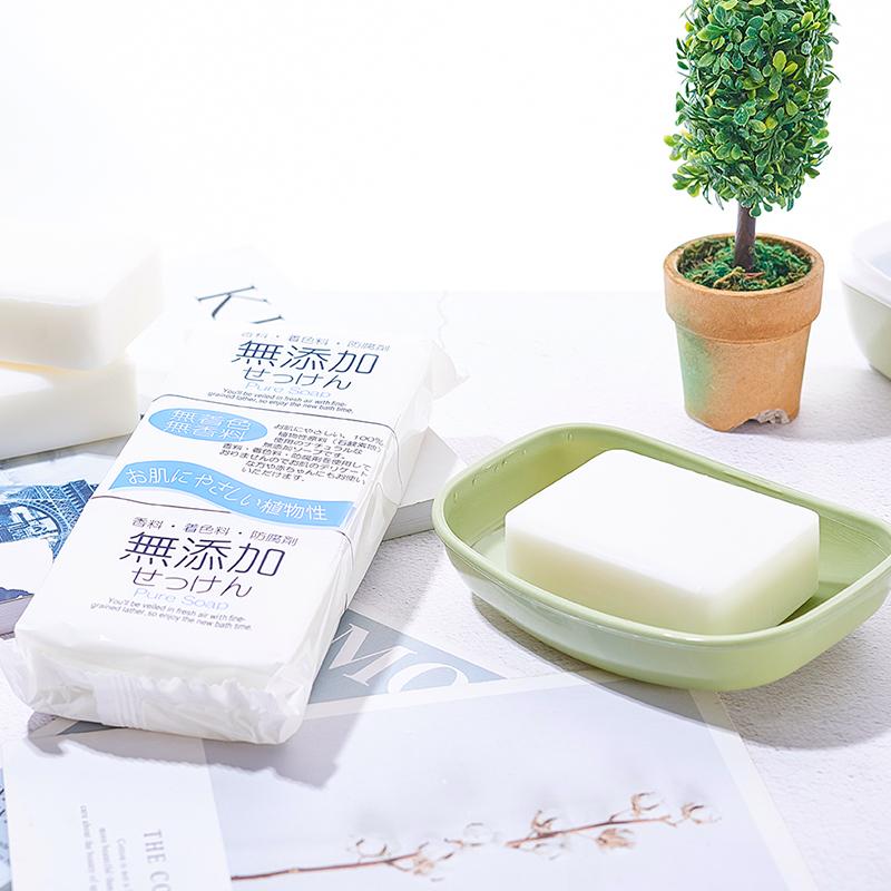 NIHONSEKKEN日本无添加清洁皂 洁面皂 香皂  去油皂  沐浴皂 125gx3块装(只接现货)