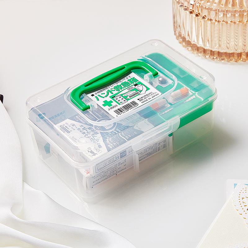 sanada日本药品收纳盒 800ML塑料药盒