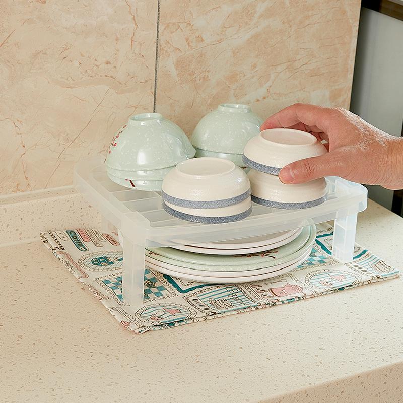 sanada日本可叠加碗碟收纳架塑料可叠加收纳架
