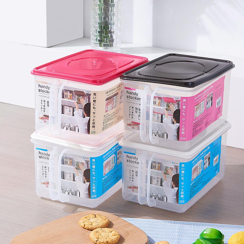 INOMATA日本带手柄收纳盒(浅型)