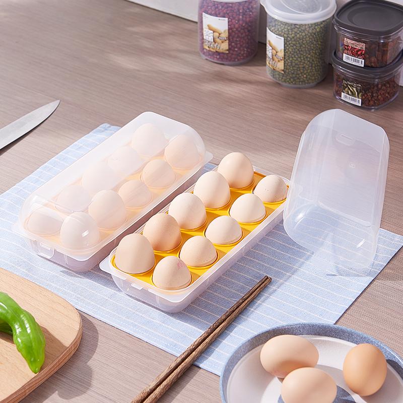 sanada日本进口鸡蛋收纳盒  鸡蛋盒 (10格)