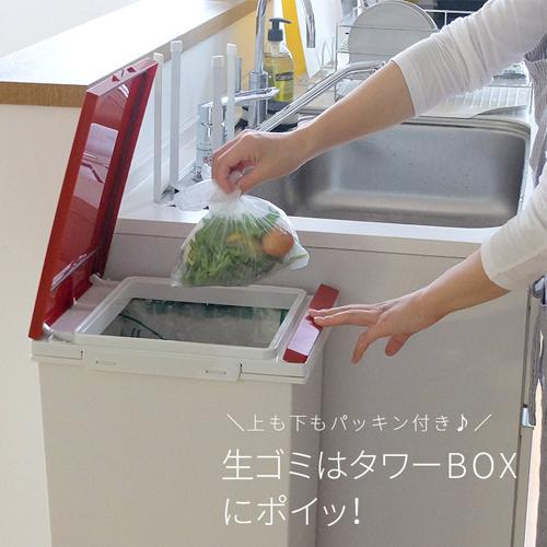 ASVEL日本SP2段踏板开关分类垃圾桶38L) 可以拆开洗