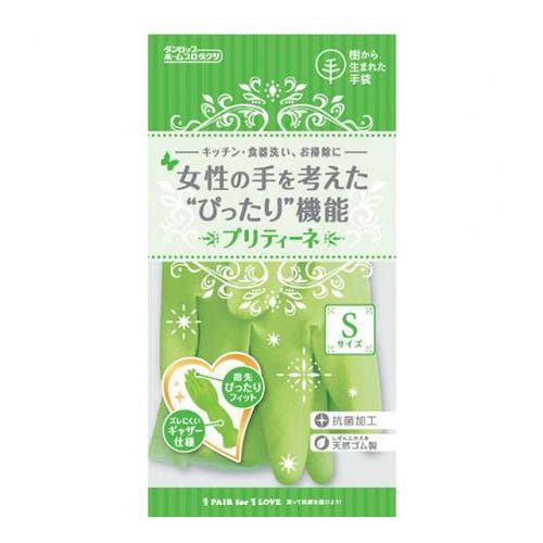 DUNLOP日本中厚手植绒橡胶手套S号