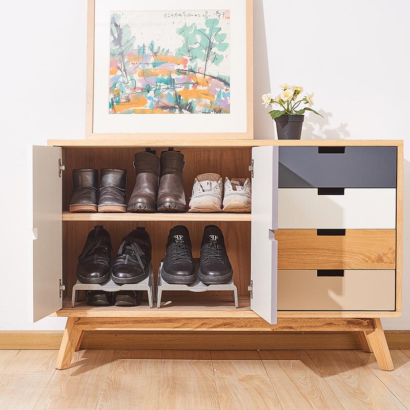 sanada日本塑料鞋柜鞋架