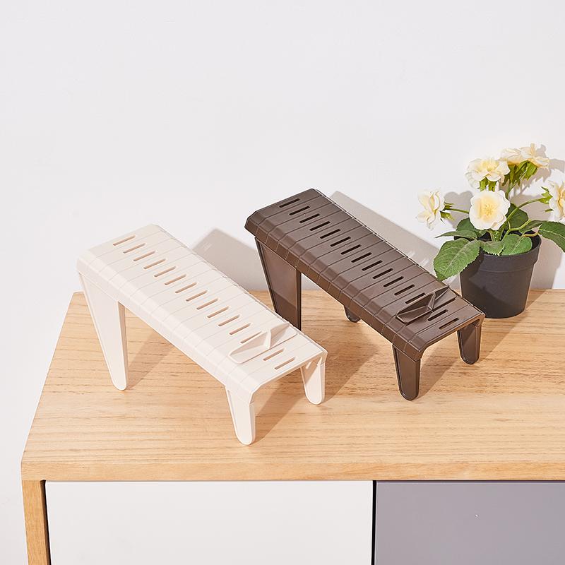 INOMATA日本可调节高度鞋子收纳架(2个一组)