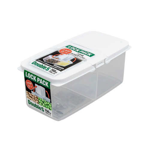 SANADA日本分格便当盒s350ml塑料收纳盒