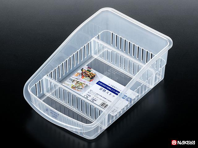 ✪#NAKAYA日本冰箱收纳盒  冰箱收纳筐塑料收纳盒