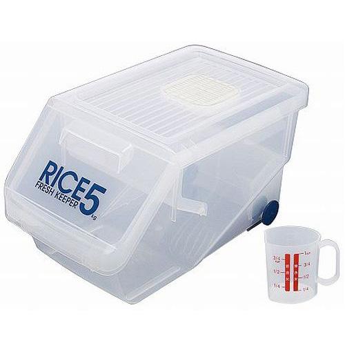 抽屉型SKATER日本防虫 米箱 5kg(附带量杯,驱蚊剂,驱蚊剂)