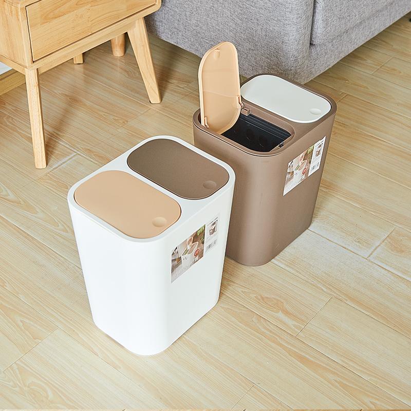 【控价】FIGO中国双盖分类垃圾桶18L